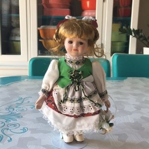 Irish inspired Porcelain Doll - Avon Collection